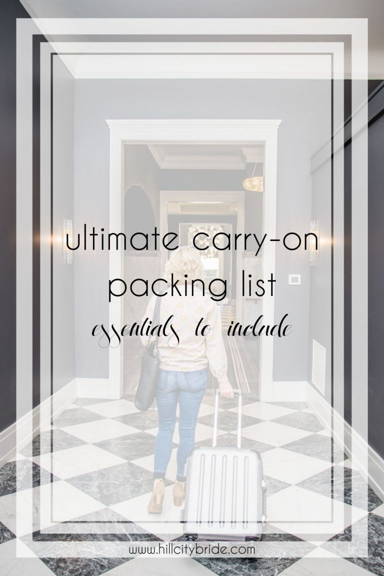 Ultimate Carry On Packing List