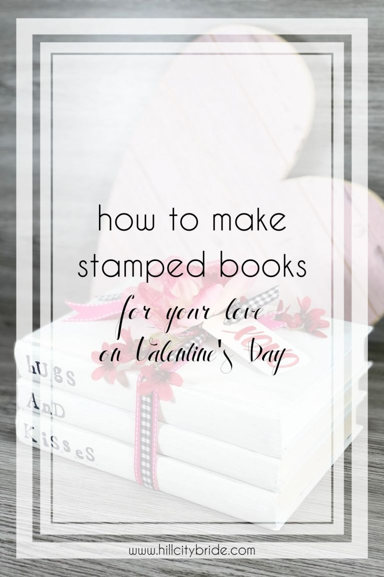 How to Make Stamped Books for Your Love on Valentine's Day