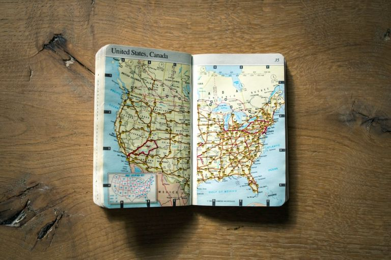 US Travel Map Planning a Honeymoon Trip Vacation