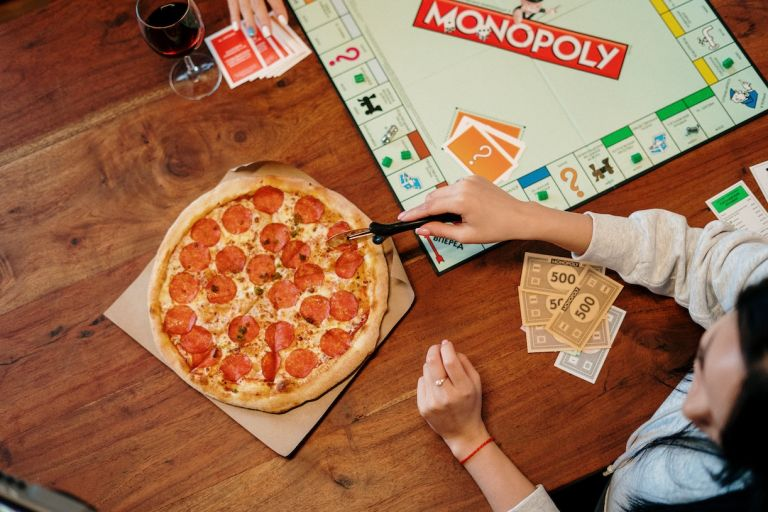 Board Game Date Night at Home with Pizza