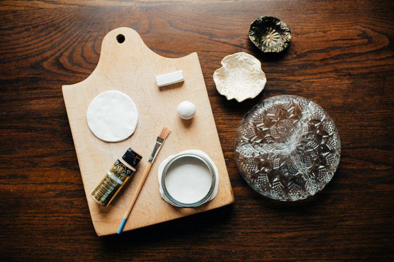 Supplies to Make a Custom Jewelry Dish