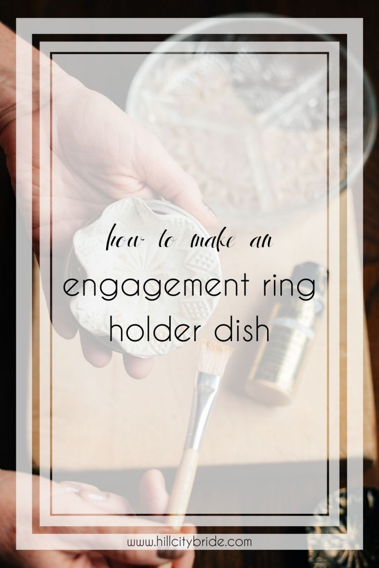 How to Make a Lovely DIY Engagement Ring Holder Dish