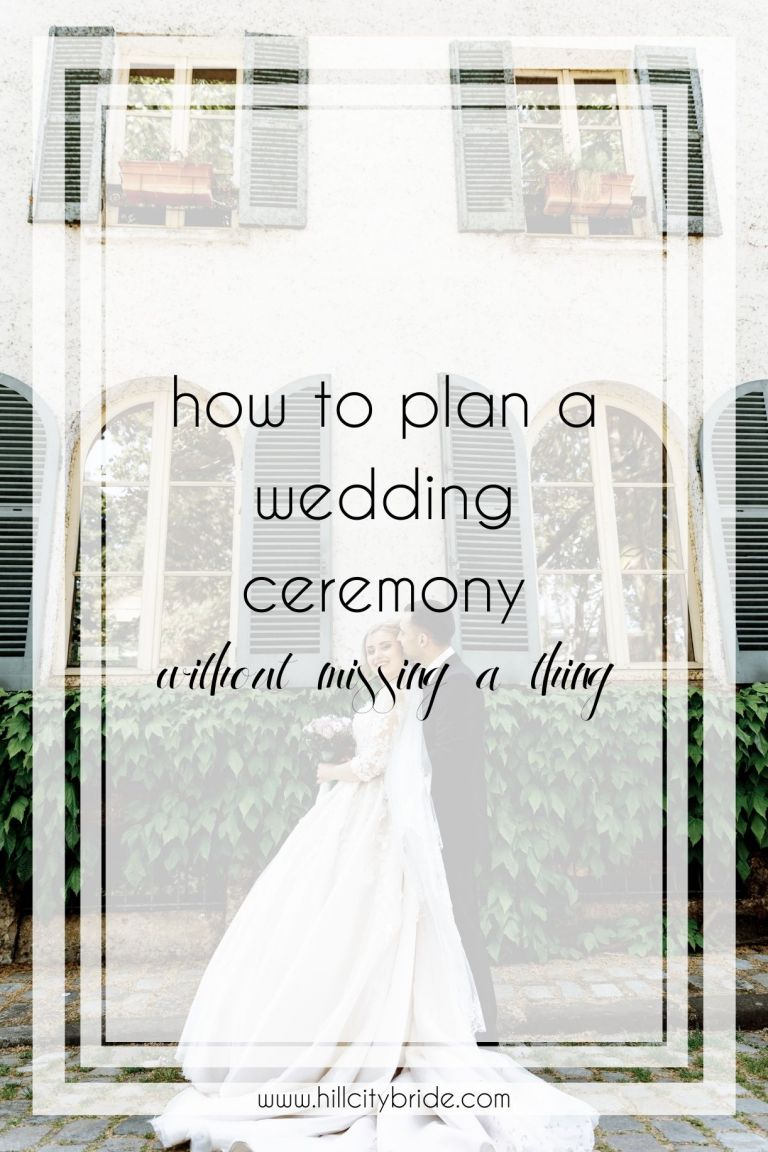 How to Plan a Wedding Ceremony Without Missing a Thing
