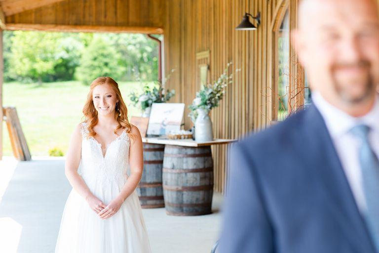 Virginia Wedding at Mountain Ridge Venue Wedding First Look Ideas