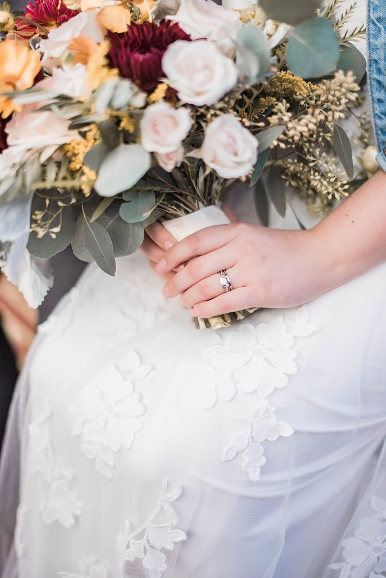 Wedding Ring with Bridal Bouquet