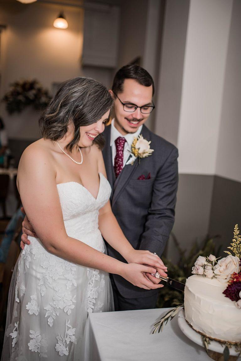 Virginia Micro Wedding Cutting Cake