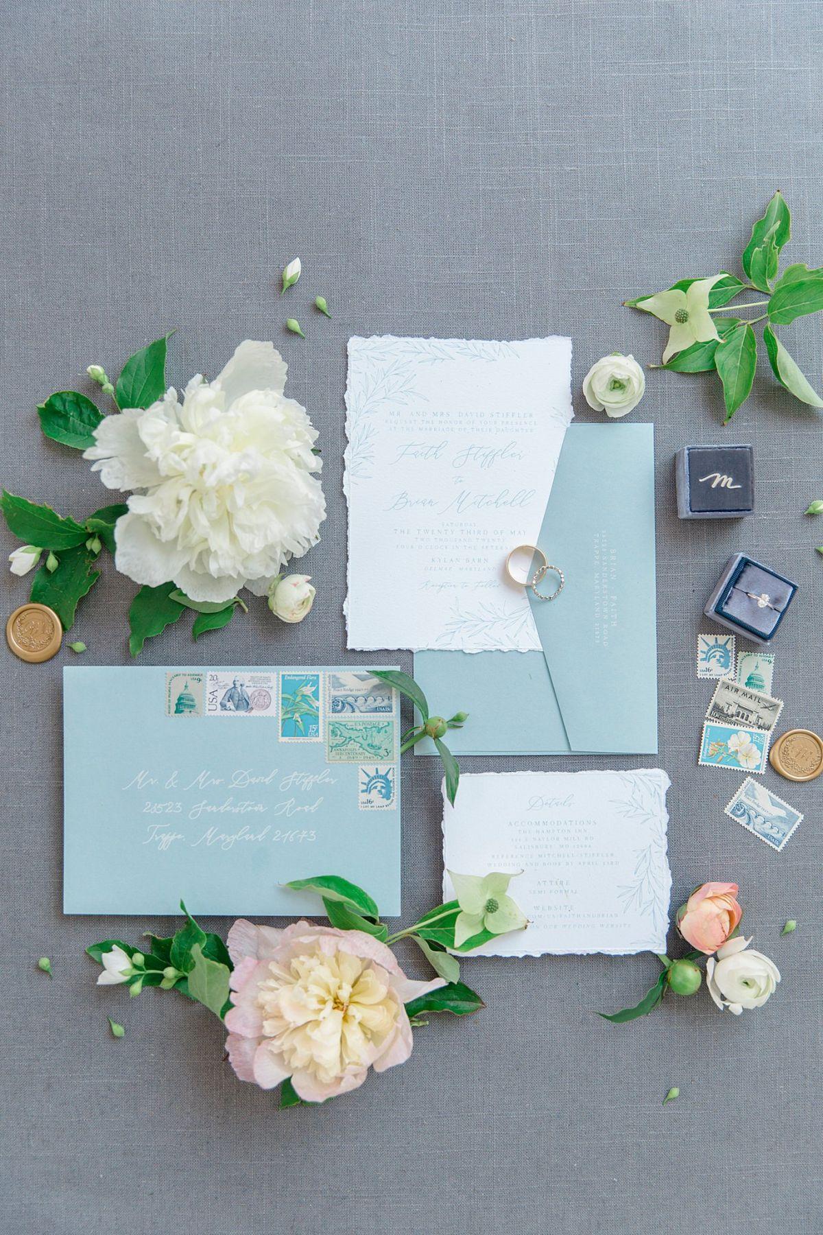 Wedding Invitation Suite Blue Virginia Micro Wedding Intimate Event Big Day