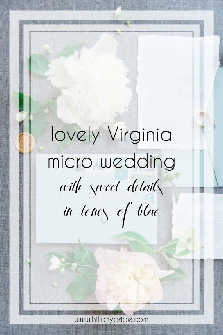 This Lovely Virginia Micro Wedding Day is Full of Stunning Blue Tones