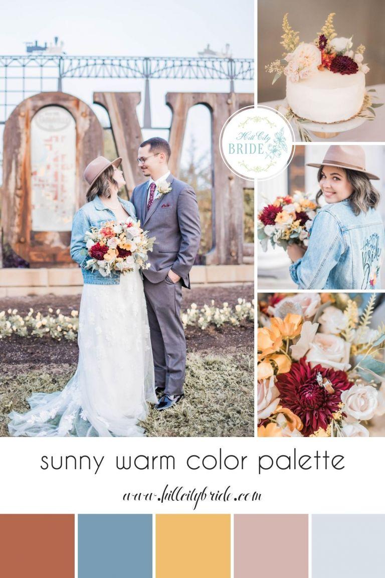 Sunny Warm Wedding Color Palette Farmville Virginia