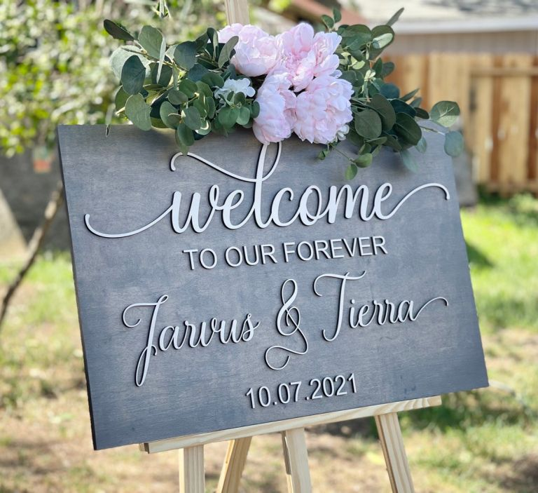 Etsy Wedding Welcome Signs