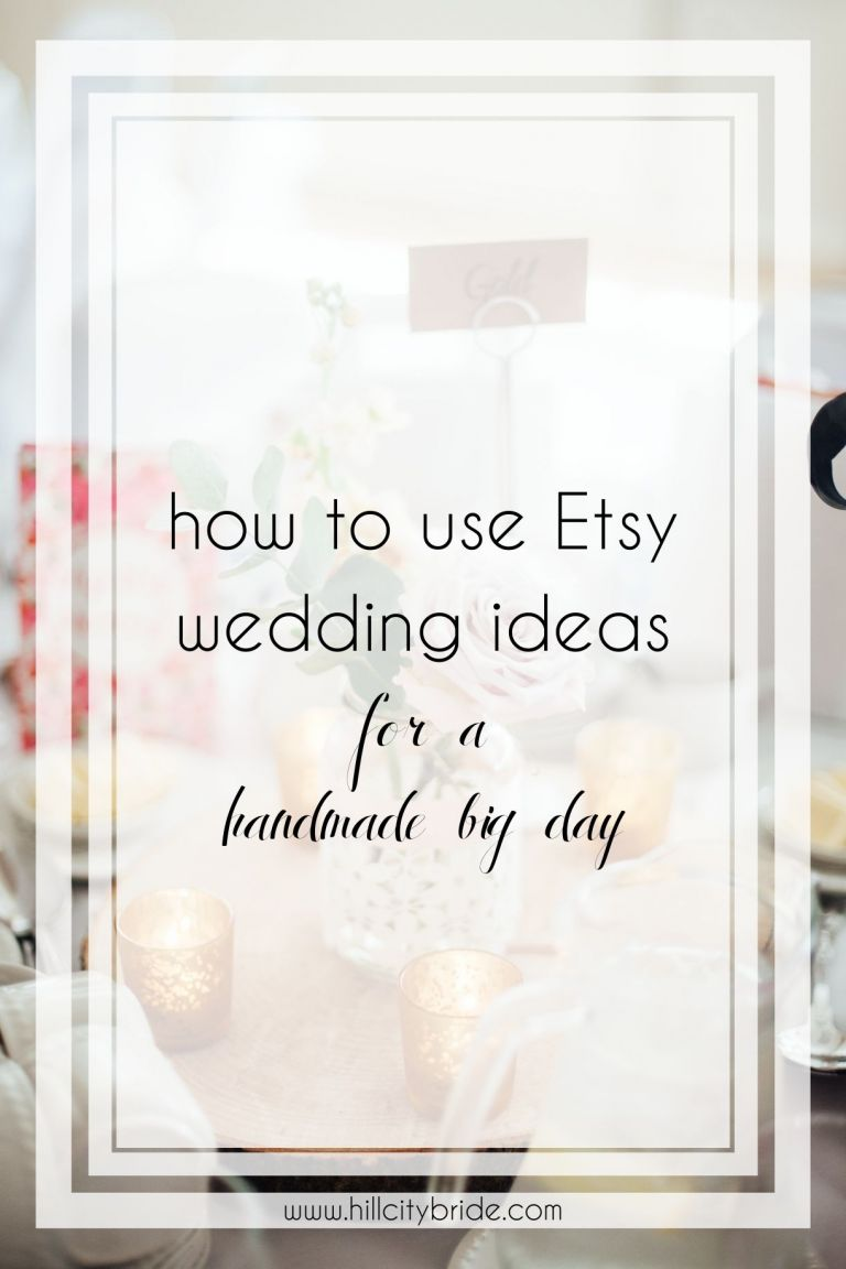 How to Include Etsy Wedding Ideas on Your Big Day