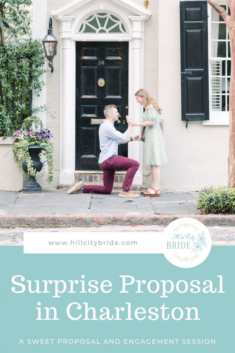 Downtown Charleston Surprise Proposal