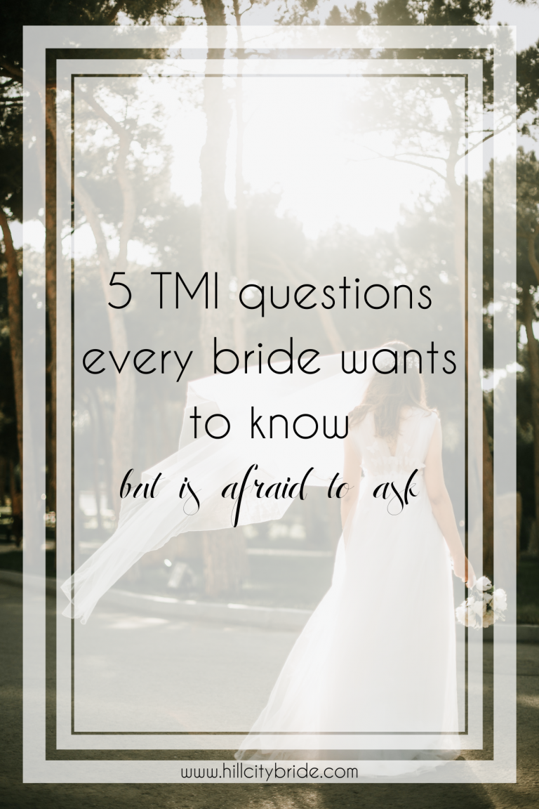5 Fascinating TMI Questions Every Bride Wants to Know but Won't Ask