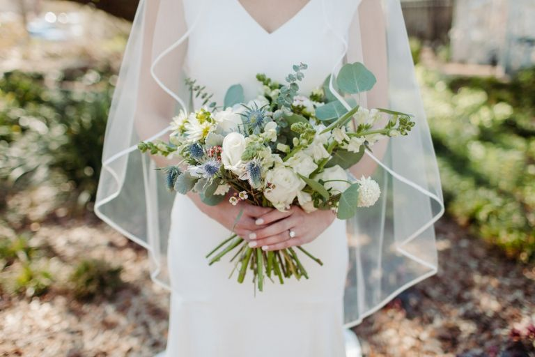 Bride Holding Flowers Wedding Day Questions