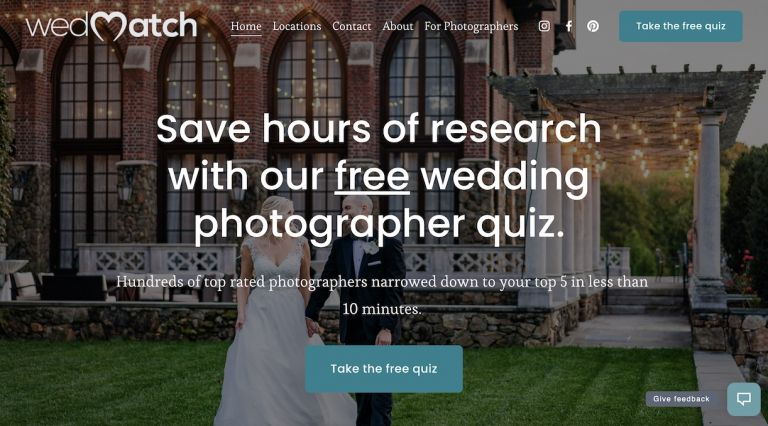 WedMatch Find Photographers in VA and DC