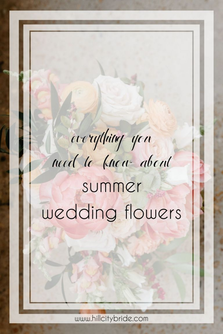 Everything You Need to Know About Summer Wedding Flowers