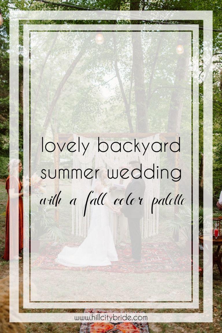 Planning a Backyard Wedding in Virginia