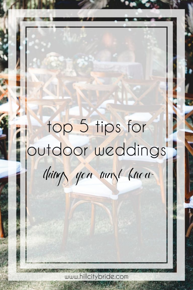 Top 5 Things You Need to Know About Outdoor Wedding Venues