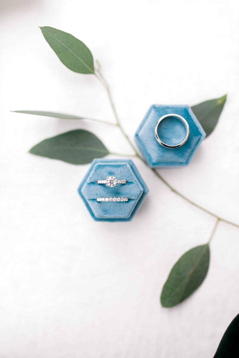 Dusty Blue Wedding Ring Box
