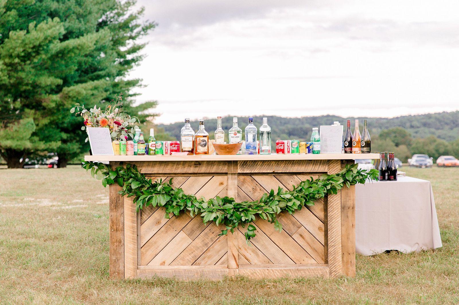 Outdoor Bar Wedding Reception