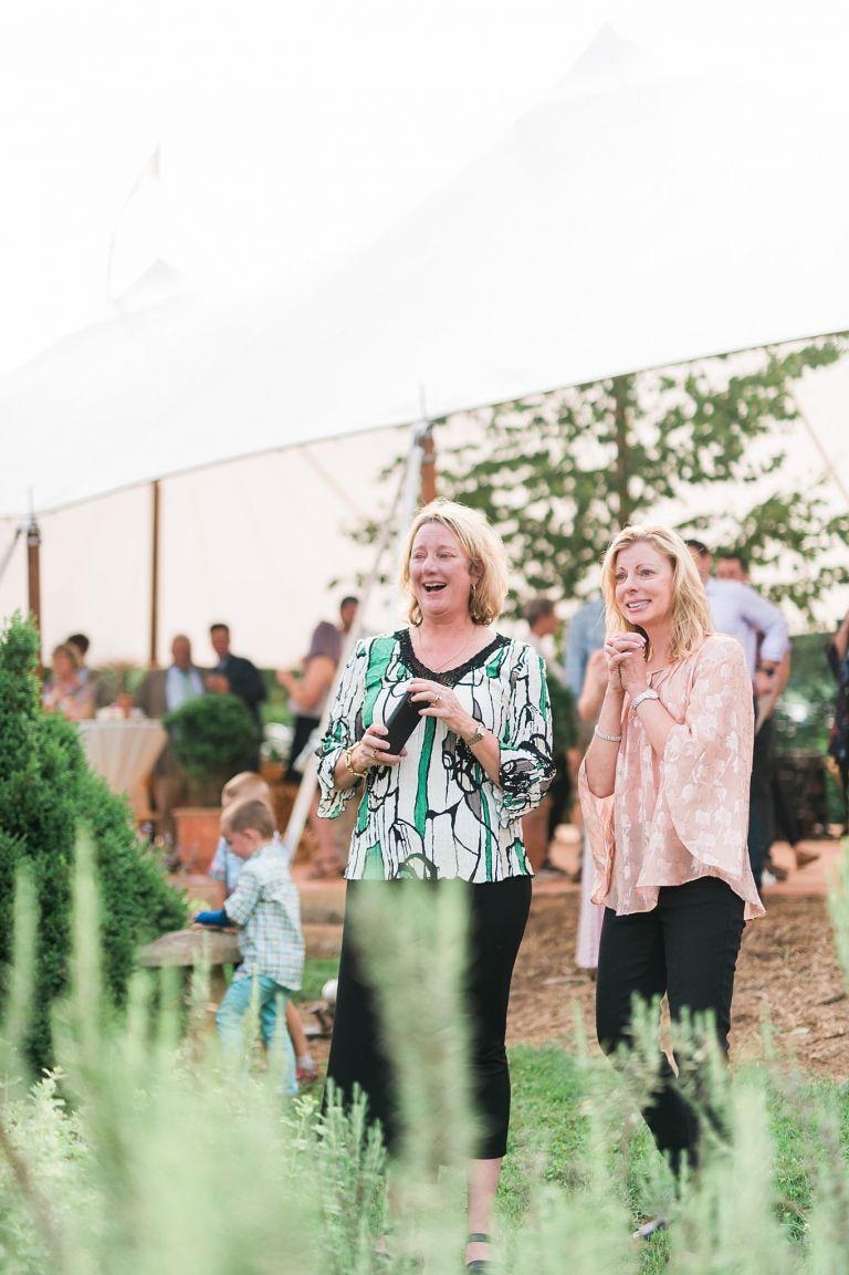 Guests Being Surprised at Virginia Wedding