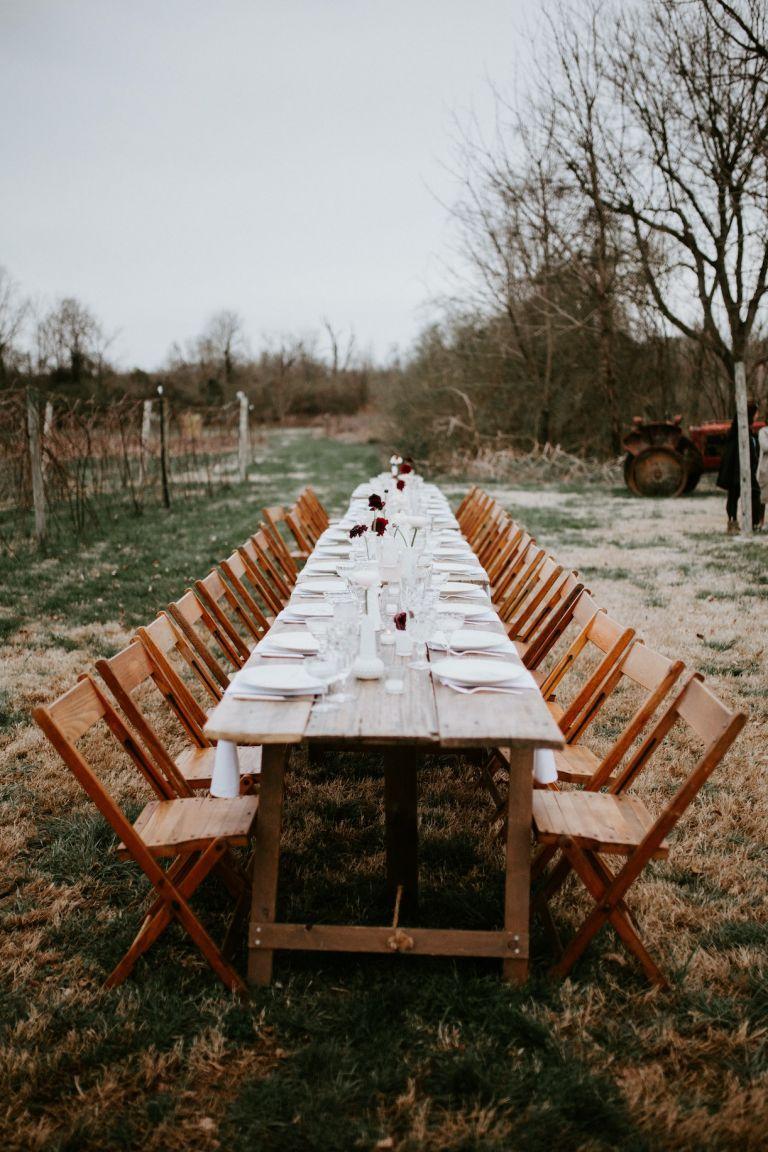 Wedding Reception Table Long Farm