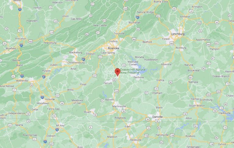 Rocky Mount VA on Map