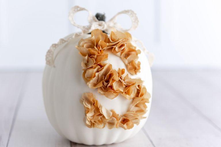 Monogrammed Pumpkin Decoration No Carve